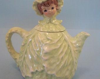 Green Cabbage Teapot ceramic