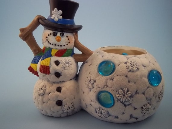 Snowman Candle Cup