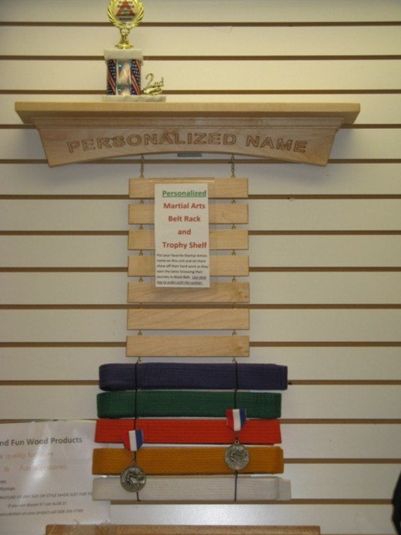 Exceptional Martial Arts Belt Display Rack Personalized #1: Il_570xN.234381654.jpg