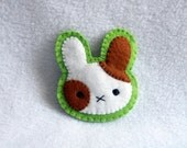 Calico Bunny Brooch by Deadly Sweet