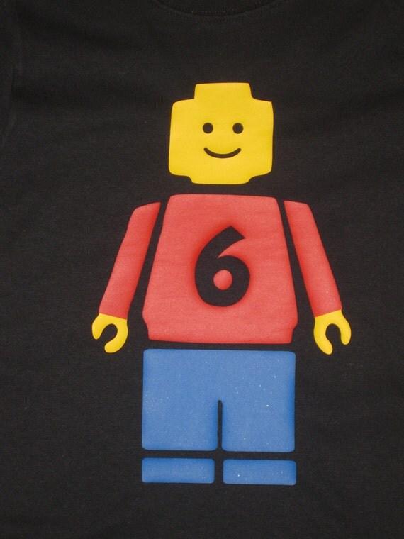 Personalized Lego Minifigure shirt (short sleeve)