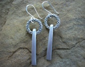 Vintage Silver Fork Tine Earrings FREE SHIPPING