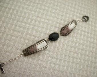 FREE SHIPPING Black Onyx Spoon Bracelet