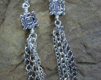 SALE Silver Chain Earrings FREE SHIPPING