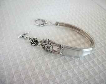 FREE SHIPPING Vintage Silver Spoon Bracelet