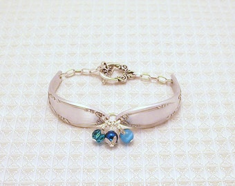 FREE SHIPPING Vintage Silver Spoons Bracelet