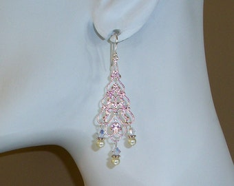 Bridal Chandelier Earrings FREE SHIPPING Style AS25