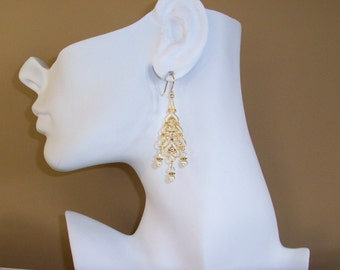 Bridal Chandelier Earrings FREE SHIPPING Style AG24