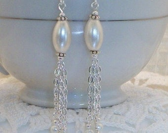 Bridal Chain Waterfall Earrings FREE SHIPPING Style BS14