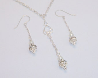 Bridal Y Necklace and Earring Set FREE SHIPPING Style YS14