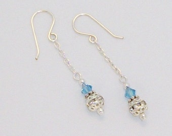 Bridal Ball & Chain Earrings FREE SHIPPING Style FS6