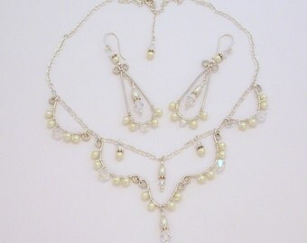 Moroccan Styled Bridal Necklace and Earring Set FREE SHIPPING Style VS25