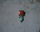 Turquoise and Red Jasper SS Pendant- RESERVED Ibrown