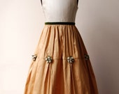 Flower Girl dress Sample Sale - Toffee/Caramel and Ivory Silk, size 5 or 6, fully lined