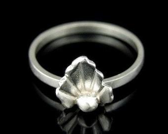 Sil-R-007 Handmade 1 flower sterling silver stacking rings