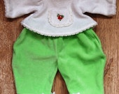 Additional set of of clothes for Waldorf dolls.