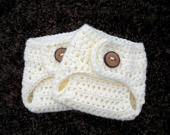 Newborn Diaper Cover Chunky Cream Diaper Cover, Crochet Newborn Diaper Cover, Baby PHOTO PROP