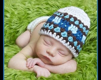 Newborn Hat, Crochet Baby Hat, Crochet Newborn Boy Hat, Baby Beanie, Newborn Crochet Photo Prop