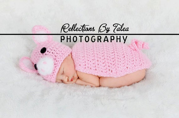 Newborn Piggy Hat and Body Cover, Pig Hat, Baby Pig Hat, Girl Pig Hat, Newborn Photo Prop, Crochet Pig Hat, Baby Hats, Hats for Newborn