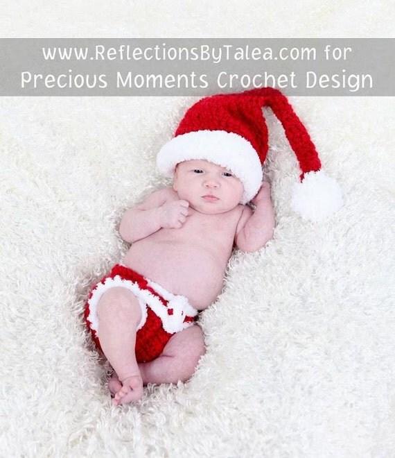 Newborn Christmas Hat and Diaper Cover, Santa Elf Hat and Diaper Cover SET, Christmas Newborn Baby PHOTO PROP