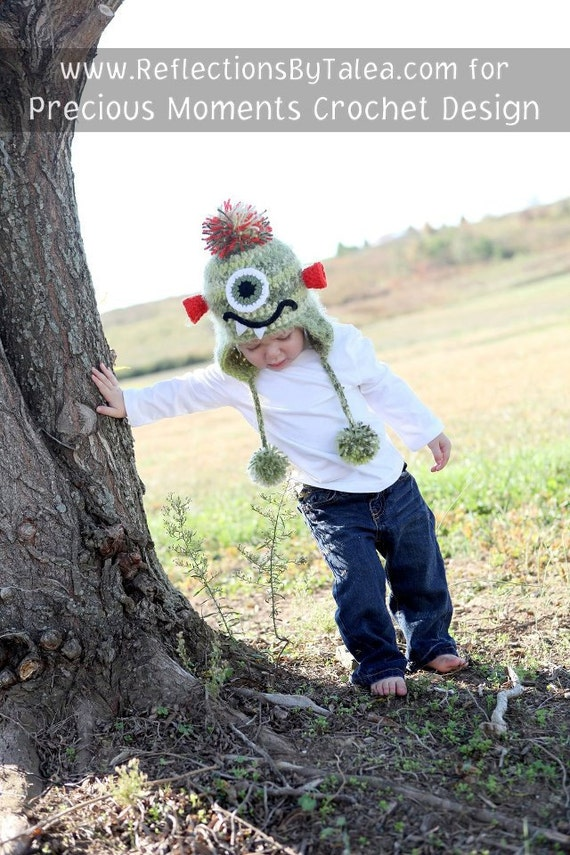 Monster Hat, Crochet Monster Hat, Toddler/Child Monster Hat, Crocheted Unique Photo Prop Select Your Size