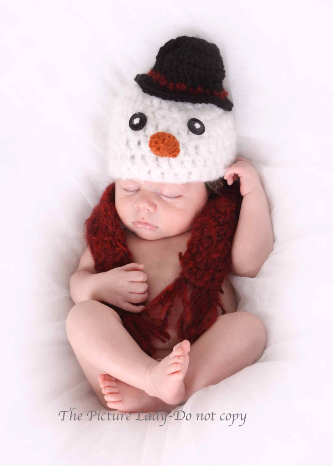 Crochet Snowman Scarf Christmas snowman hat and scarf crocheted by ...