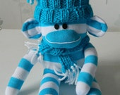 Stripey Sid the Sock Monkey