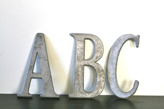 "Vintage Industrial Metal Letters B-O....One Letter....4""Size"