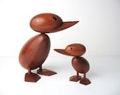 Danish Modern Teak Ducks Pair Hans Bolling Style - beautiful condition
