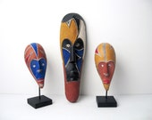 Decorative African Masks Collection - Mid-Century Decorative Objects