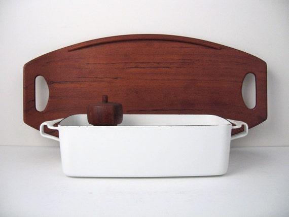 DANSK Bread Baking Meatloaf Pan / Dish in White