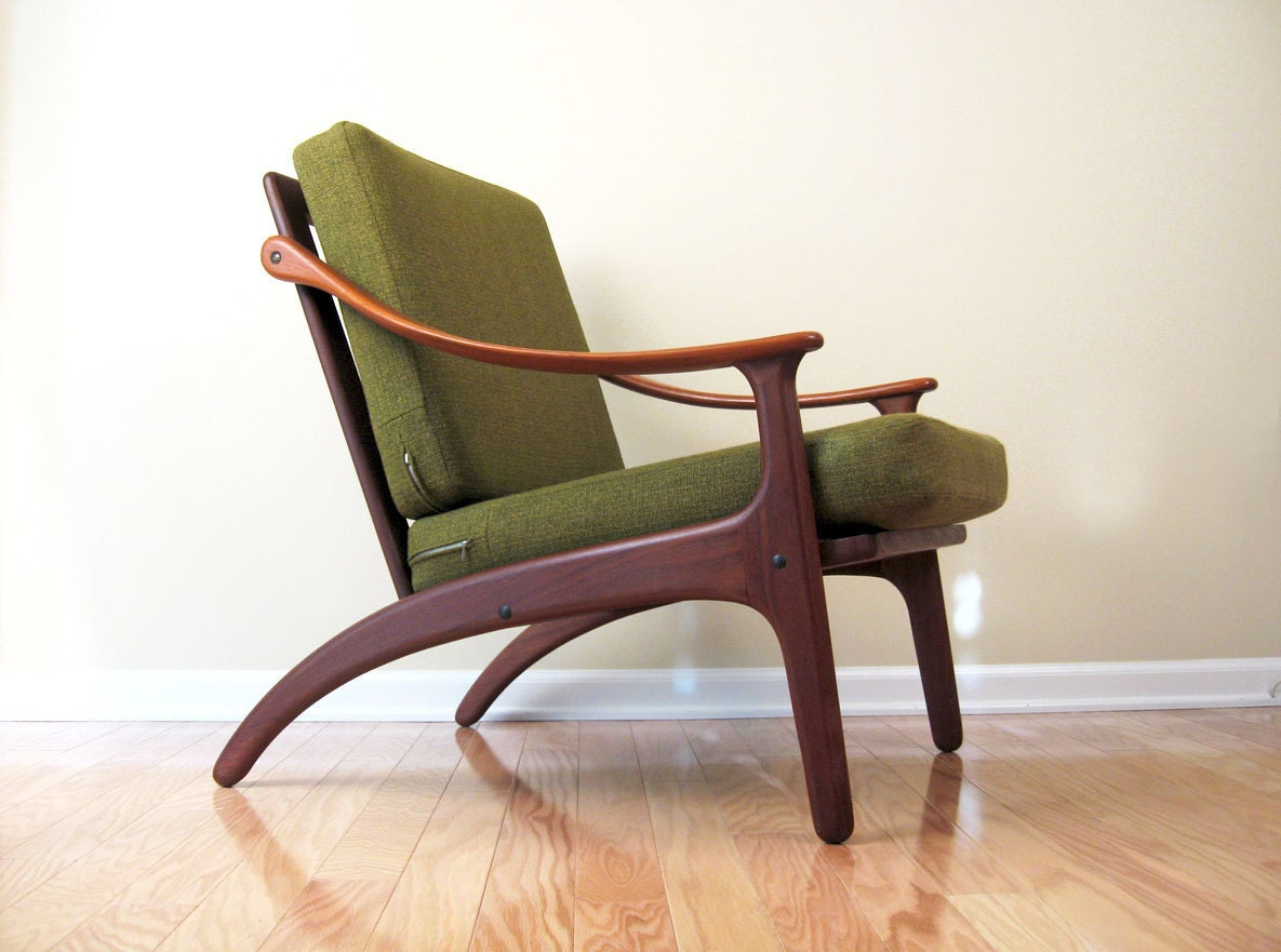 Danish Modern Teak Lounge Chair by Komfort Denmark excellent