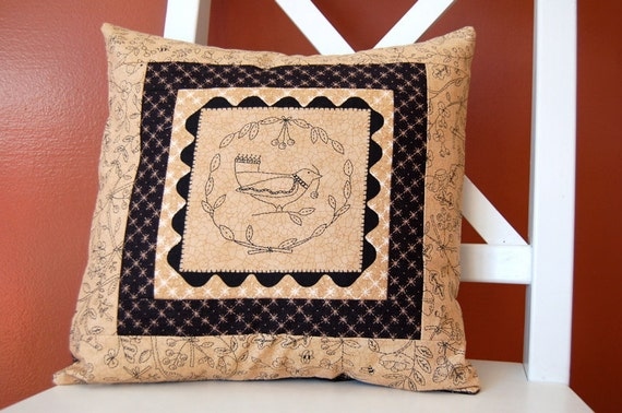 SALE, Full Circle, Country Cross Stitch Panel, Pillow