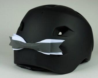 White Reflective Helmet Bow