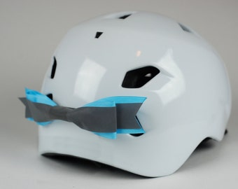 Blue Reflective Bike Helmet Bow
