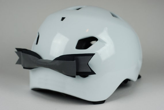 Black Reflective Bike Helmet Bow