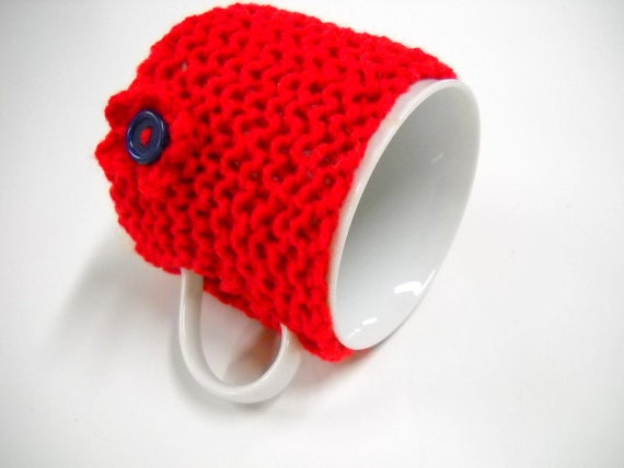 Coffee Mug Cozy, Tea Cup Sleeve, Coffee Cup Warmer, Mug Cosy, Mug Cozies, Red