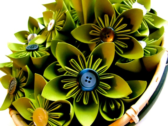 Items Similar To Green Paper Flowers Wedding Decorations Home Decorations Event Decorations