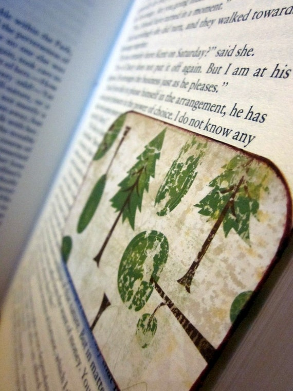 READY TO SHIP Magnetic Bookmark (Save the Trees)