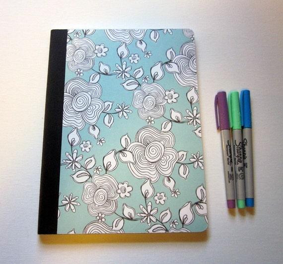 Composition Notebook (Oriental Flower Garden)