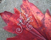 Hammered Sterling Silver Wire Earrings- Simple in Silver