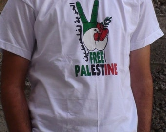 Peace and Freedom in Palestine t shirt