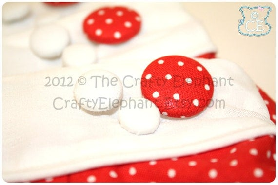 RTS - White Polkadot Clutch