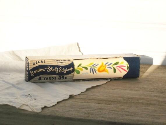 Vintage Decal Border and Shelf Edging