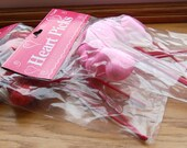 2 Packs of Red and Pink Glitter Heart Picks