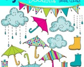 KPM Bright Rainy Day digital clip art