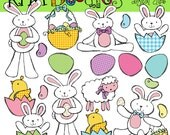 INSTANT DOWNLOAD Bunny Bash Digital Clip art