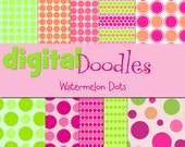 KPM Watermelon Dots Digital  Paper Pack