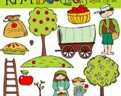COMBO Johnny Appleseed digital clipart