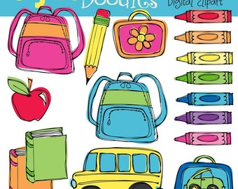 KPM School days digital clipart